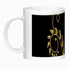 Butterfly Black Golden Night Luminous Mugs