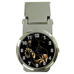 Butterfly Black Golden Money Clip Watches