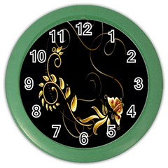 Butterfly Black Golden Color Wall Clocks