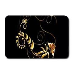 Butterfly Black Golden Plate Mats