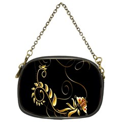 Butterfly Black Golden Chain Purses (One Side)