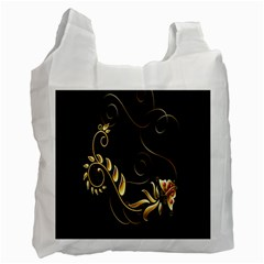 Butterfly Black Golden Recycle Bag (One Side)