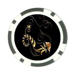 Butterfly Black Golden Poker Chip Card Guards (10 pack)