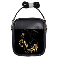 Butterfly Black Golden Girls Sling Bags