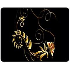 Butterfly Black Golden Fleece Blanket (Medium)