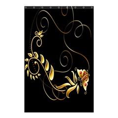 Butterfly Black Golden Shower Curtain 48  x 72  (Small)