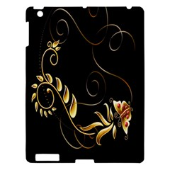 Butterfly Black Golden Apple iPad 3/4 Hardshell Case