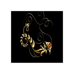 Butterfly Black Golden Acrylic Tangram Puzzle (4  x 4 )