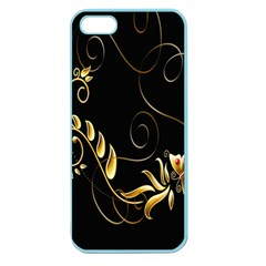 Butterfly Black Golden Apple Seamless iPhone 5 Case (Color)