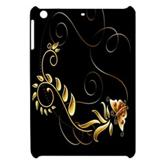 Butterfly Black Golden Apple iPad Mini Hardshell Case