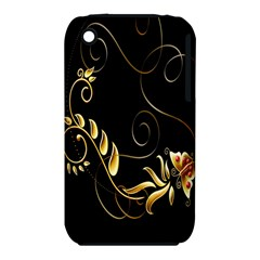 Butterfly Black Golden iPhone 3S/3GS