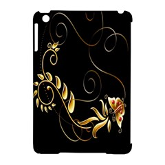 Butterfly Black Golden Apple iPad Mini Hardshell Case (Compatible with Smart Cover)