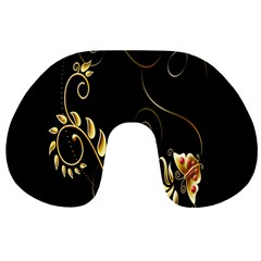 Butterfly Black Golden Travel Neck Pillows