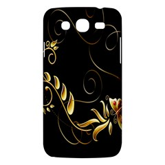 Butterfly Black Golden Samsung Galaxy Mega 5.8 I9152 Hardshell Case