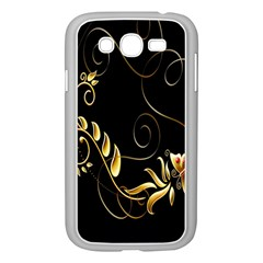 Butterfly Black Golden Samsung Galaxy Grand DUOS I9082 Case (White)