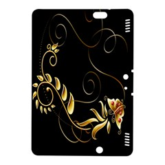 Butterfly Black Golden Kindle Fire HDX 8.9  Hardshell Case