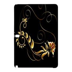 Butterfly Black Golden Samsung Galaxy Tab Pro 10.1 Hardshell Case