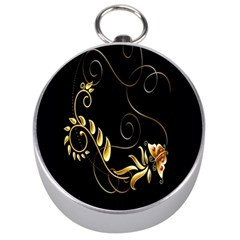 Butterfly Black Golden Silver Compasses