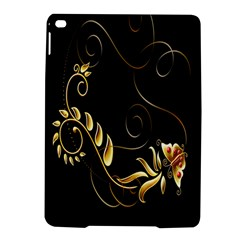 Butterfly Black Golden iPad Air 2 Hardshell Cases