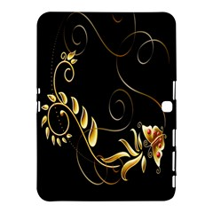 Butterfly Black Golden Samsung Galaxy Tab 4 (10.1 ) Hardshell Case