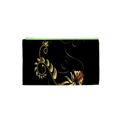 Butterfly Black Golden Cosmetic Bag (XS)