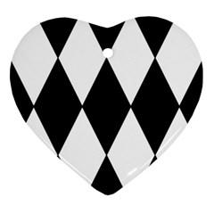 Chevron Black Copy Ornament (Heart)