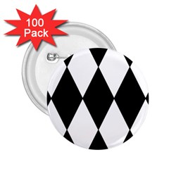 Chevron Black Copy 2.25  Buttons (100 pack)