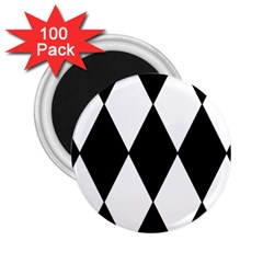 Chevron Black Copy 2.25  Magnets (100 pack)
