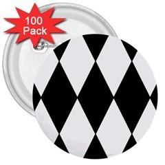 Chevron Black Copy 3  Buttons (100 pack)
