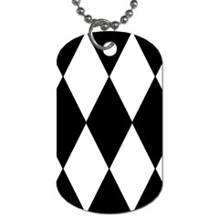 Chevron Black Copy Dog Tag (One Side)