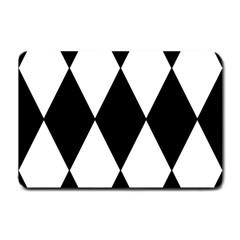 Chevron Black Copy Small Doormat