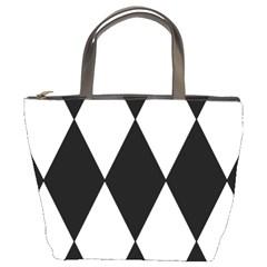 Chevron Black Copy Bucket Bags