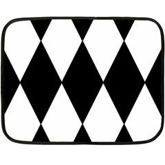 Chevron Black Copy Double Sided Fleece Blanket (Mini)