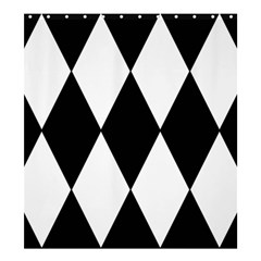 Chevron Black Copy Shower Curtain 66  x 72  (Large)
