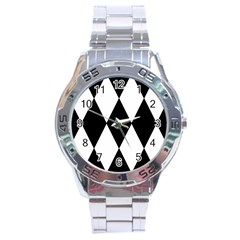 Chevron Black Copy Stainless Steel Analogue Watch