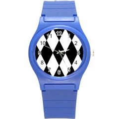 Chevron Black Copy Round Plastic Sport Watch (S)