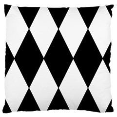 Chevron Black Copy Large Cushion Case (Two Sides)