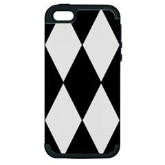 Chevron Black Copy Apple iPhone 5 Hardshell Case (PC+Silicone)