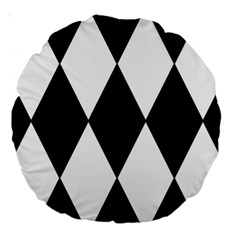 Chevron Black Copy Large 18  Premium Round Cushions