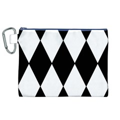 Chevron Black Copy Canvas Cosmetic Bag (XL)