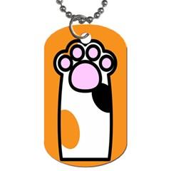 Cathand Orange Dog Tag (One Side)