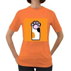 Cathand Orange Women s Dark T-Shirt