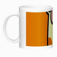 Cathand Orange Night Luminous Mugs