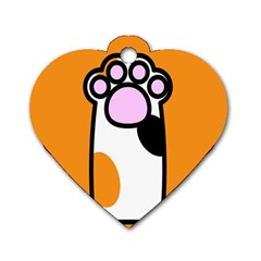 Cathand Orange Dog Tag Heart (Two Sides)