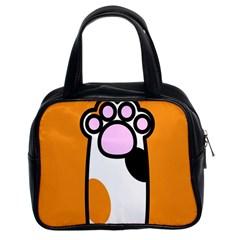 Cathand Orange Classic Handbags (2 Sides)