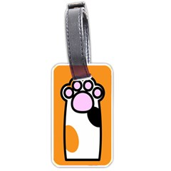 Cathand Orange Luggage Tags (One Side)