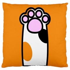 Cathand Orange Large Cushion Case (One Side)