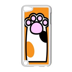 Cathand Orange Apple iPod Touch 5 Case (White)
