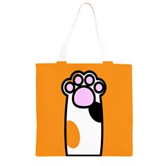Cathand Orange Grocery Light Tote Bag