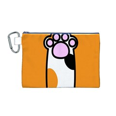 Cathand Orange Canvas Cosmetic Bag (M)